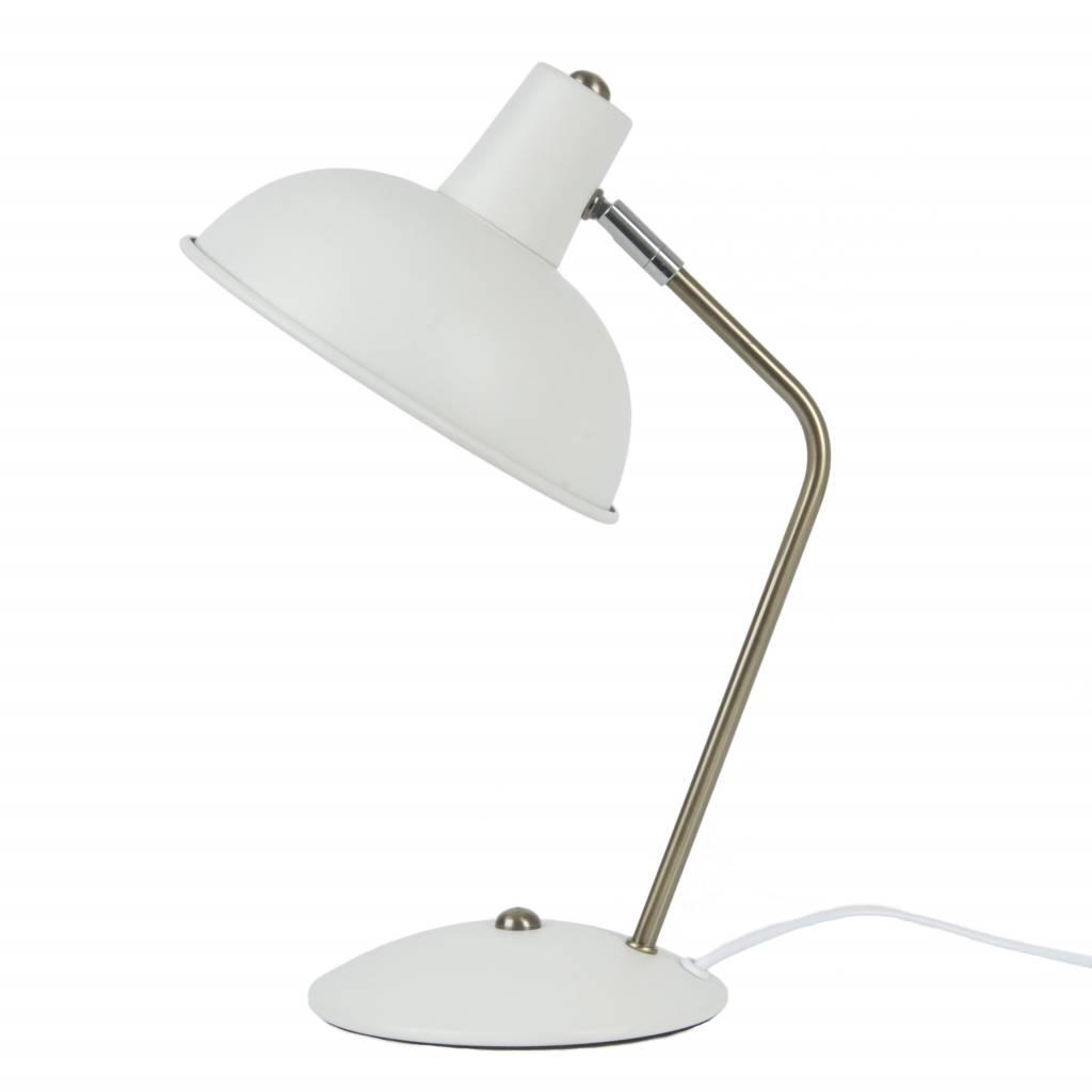 Leitmotiv tafellamp hood metaal mat wit 195x375cm orangehaus prev geotapseo Choice Image