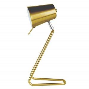 """Leitmotiv Tafellamp """"Z"""" mat goud"""