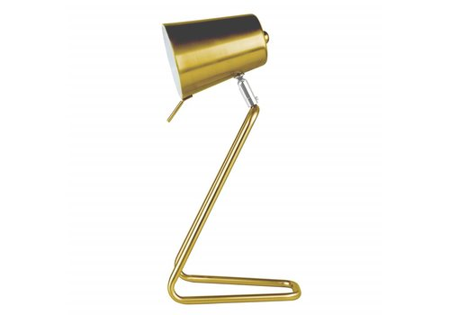 "Leitmotiv Tischlampe ""Z"" Gold"