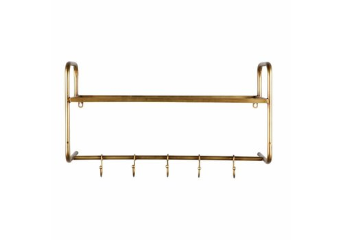 BePureHome Kapstok Hatstand hangend antique brass metaal goud
