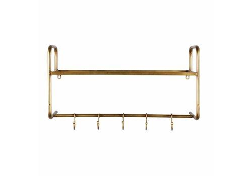 BePureHome Kleidersänder Hatstand antike Messing Metall hängen ist Gold 40x63x23cm