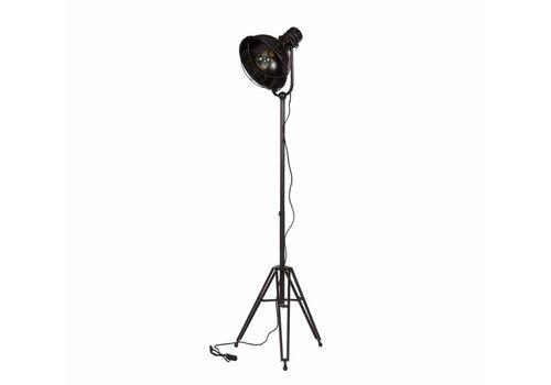 BePureHome Vloerlamp Spotlight metaal zwart 167x54x45cm