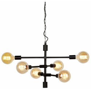 It's about Romi Hanglamp Nashville 6-arm ijzer zwart