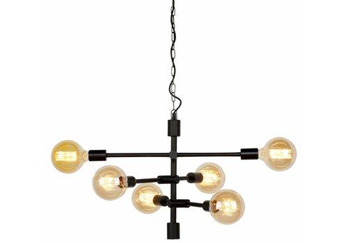 It's about Romi Hanging lamp Nashville 6-arm black