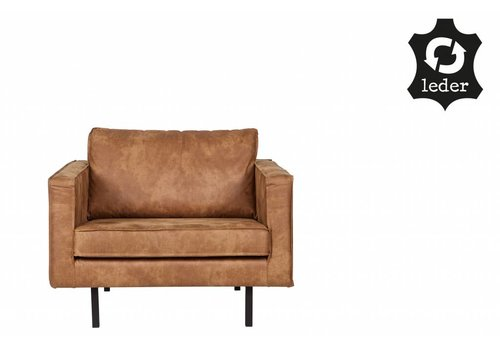 BePureHome Fauteuil Rodeo recycle leather cognac brown