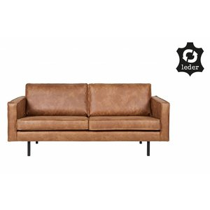 BePureHome Bank 2,5 zits Rodeo recycle leer cognac bruin
