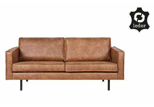 BePureHome Sofa 2,5 seater Rodeo recycle leather cognac brown