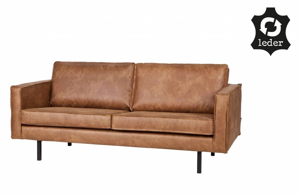 bepurehome sofa 2 5 sitzer rodeo recyceltes leder cognac braun orangehaus. Black Bedroom Furniture Sets. Home Design Ideas