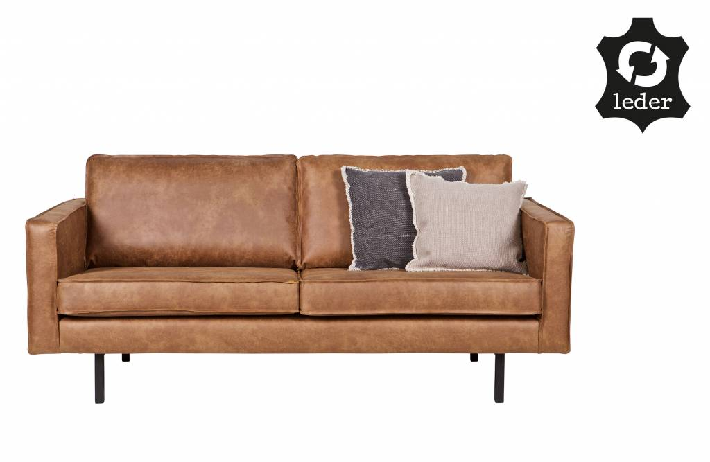 Bepurehome bank zits rodeo recycle leer cognac bruin orangehaus