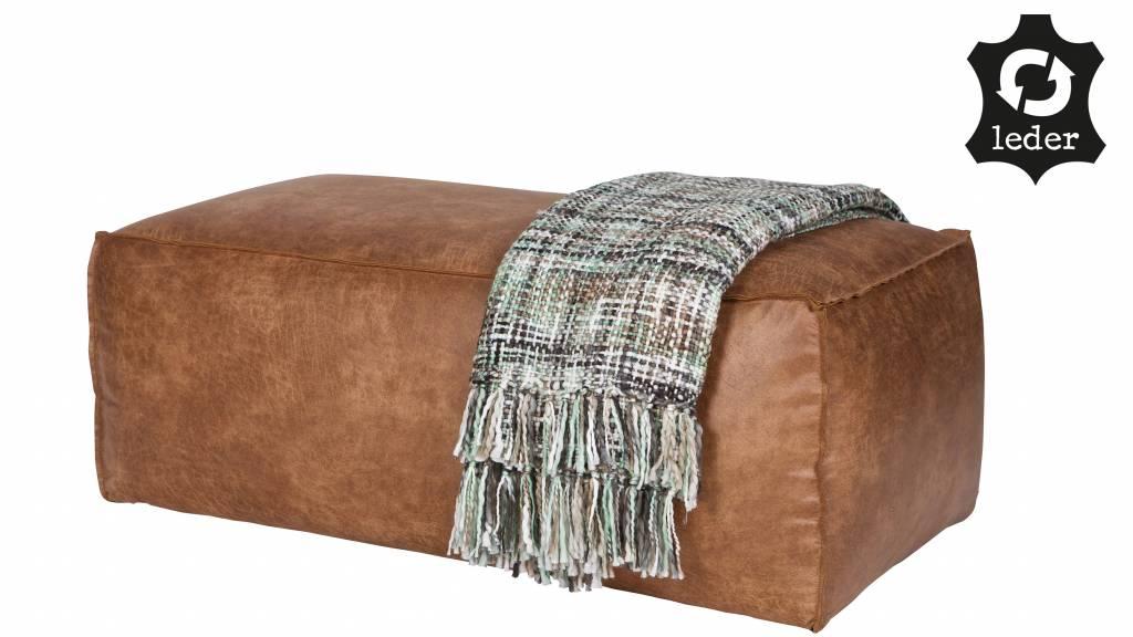 bepurehome hocker rodeo recyceltes leder cognac braun. Black Bedroom Furniture Sets. Home Design Ideas