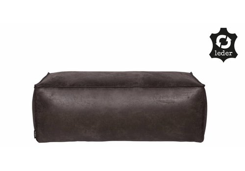 BePureHome Pouf Rodeo recycle leather black
