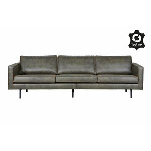 BePureHome Sofa 3-Sitzer Rodeo recyceltes Leder armeegrün