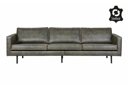 BePureHome Sofa 3-seater Rodeo recycle leather army green