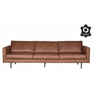 BePureHome Sofa 3-Sitzer Rodeo recyceltes Leder cognac braun