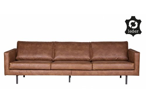 BePureHome Sofa 3-seater Rodeo recycle leather cognac brown