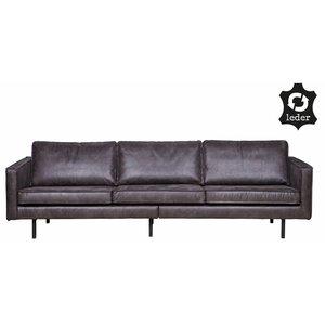 BePureHome Sofa 3-Sitzer Rodeo recyceltes Leder schwarz