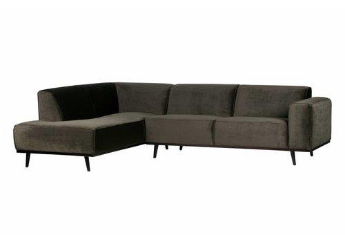 BePureHome Corner sofa Statement Left velvet warm green
