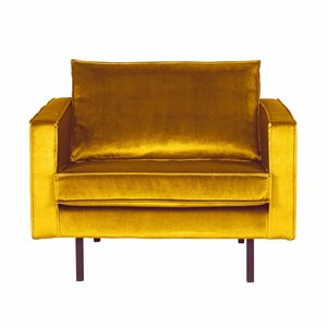 BePureHome Fauteuil Rodeo Velvet ocher yellow