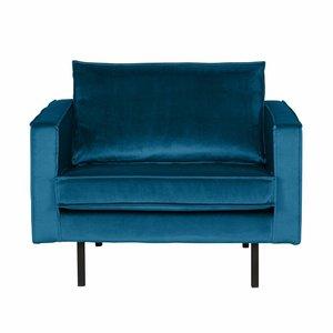 BePureHome Fauteuil Rodeo velvet blue