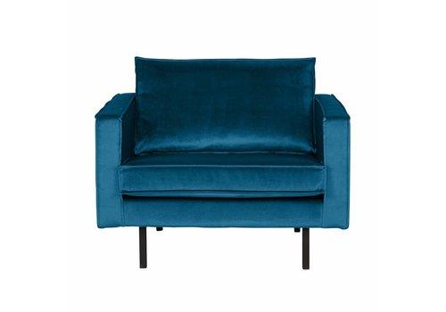 BePureHome Fauteuil Rodeo fluweel blauw