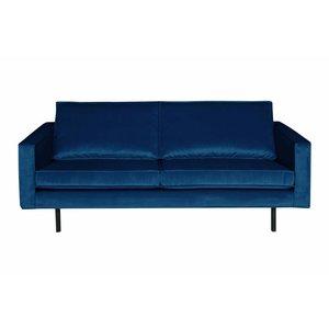 BePureHome Bank 2,5-zits Rodeo fluweel blauw