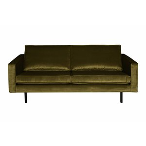 BePureHome Sofa 2,5-seater Rodeo velvet olive green
