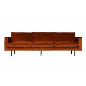 BePureHome Sofa 3-seater Rodeo velvet rust brown