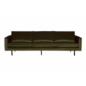 BePureHome Sofa 3-seater Rodeo velvet hunter dark green