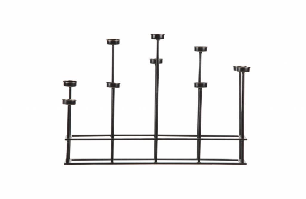 bepurehome kerzenst nder surround metall schwarz orangehaus. Black Bedroom Furniture Sets. Home Design Ideas