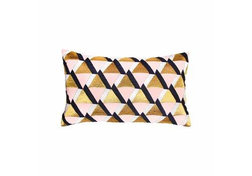 &Klevering Cushion Palm tree gold 40x40cm - Copy