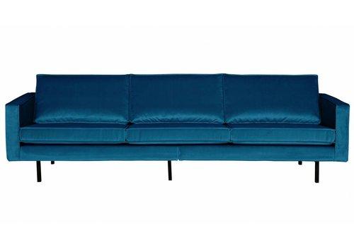 BePureHome Sofa 3-seater Rodeo velvet blue