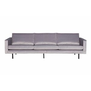 BePureHome Sofa 3-seater Rodeo velvet light gray