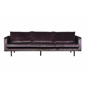 BePureHome Sofa 3-seater Rodeo velvet gray