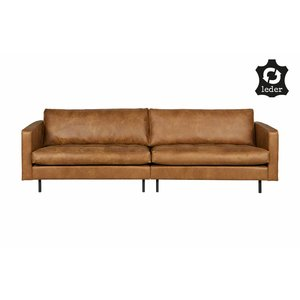 BePureHome Bank 3-zits Rodeo Classic recycle leer cognac bruin