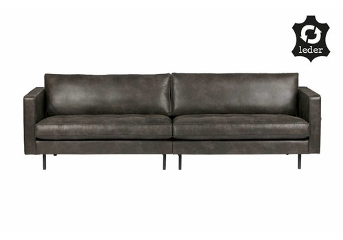 BePureHome Sofa 3-seater Rodeo Classic recycle leather black
