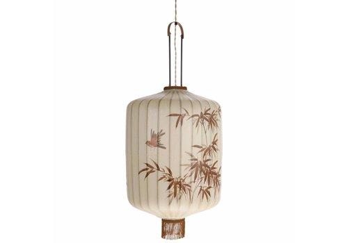 HKliving Lampe Laterne XL Textil beige