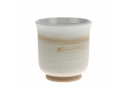 HKliving Becher Kyoto creme/weiß Keramik