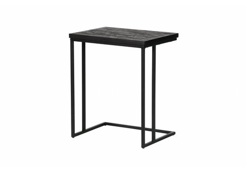 BePureHome Bijzettafel Sharing U-vorm zwart hout metaal