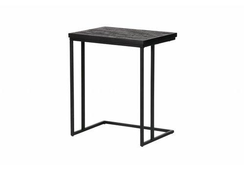 BePureHome Side table Sharing U-shape black wood metal