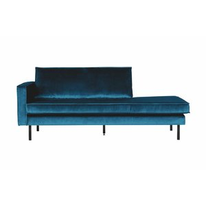 BePureHome Daybed Rodeo Links velvet blauw