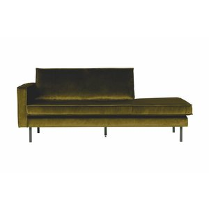 BePureHome Daybed Rodeo Links velvet olijfgroen