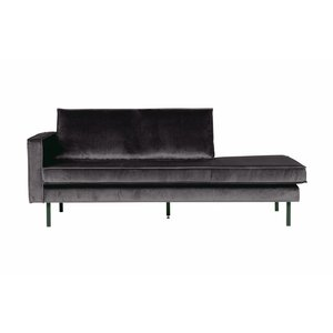 BePureHome Daybed Rodeo Links velvet antraciet