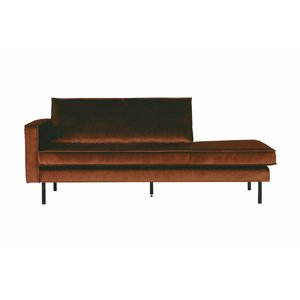 BePureHome Daybed Rodeo Links velvet bruin