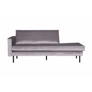 BePureHome Daybed Rodeo Left velvet light gray
