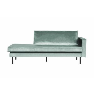 BePureHome Rodeo Daybed Right velvet mint green