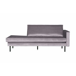 BePureHome Daybed Rodeo Right velvet light gray