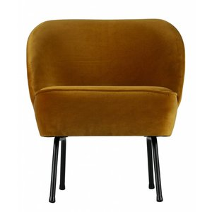 BePureHome Fauteuil Vogue velvet mustard yellow
