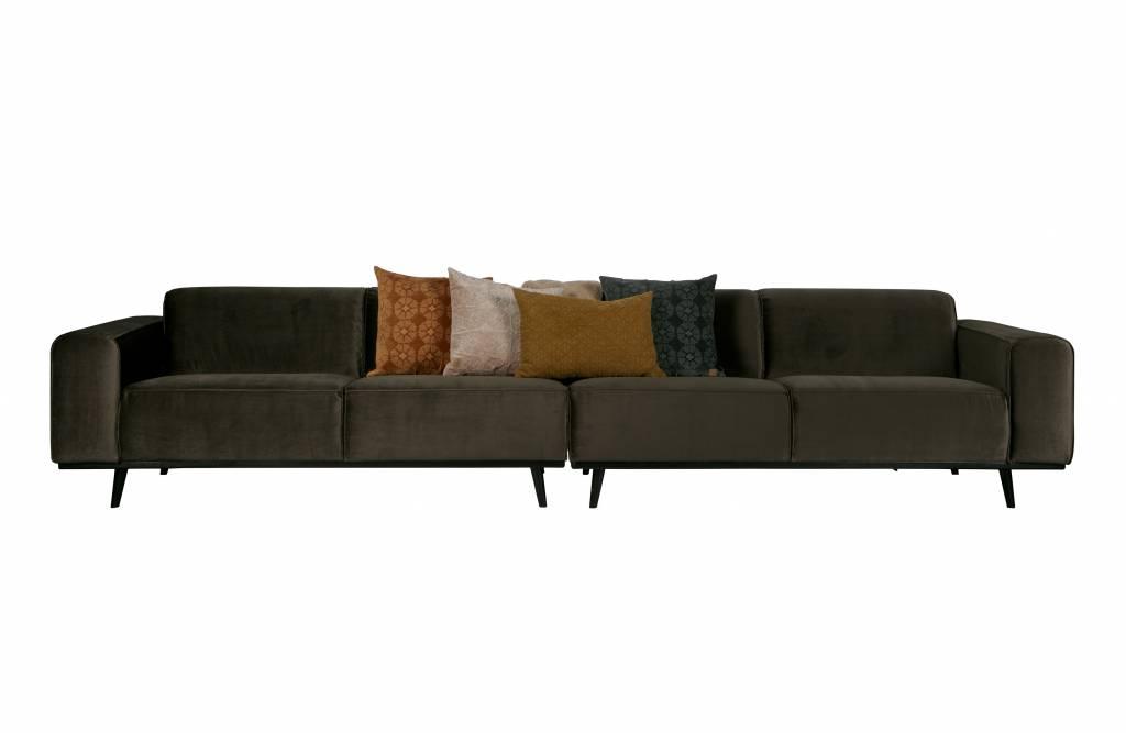 bepurehome sofa statement xl 4 sitzer samt dunkelgr n orangehaus. Black Bedroom Furniture Sets. Home Design Ideas
