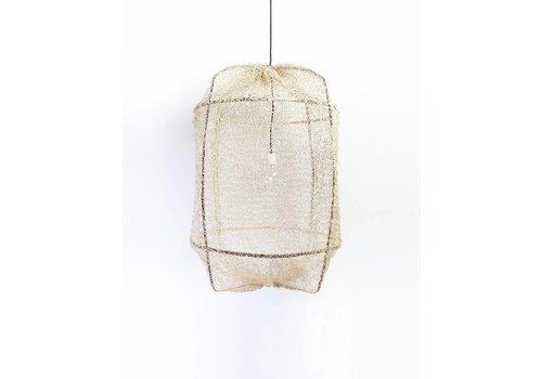 Ay illuminate Hanglamp Z1 zwart frame met sisal net