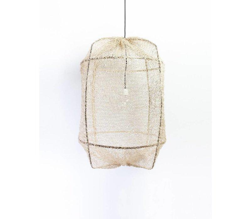 Ay illuminate Hanglamp Z1 zwart met sisal net